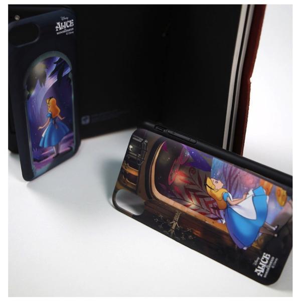 ディズニー iPhoneケース iPhoneXSMAX iPhoneXR iPhone8 iPhone7 iPhoneXS ふしぎの国のアリス カード収納 ミラー付き Galaxy 送料無料 公式 グッズ|itfriends|03