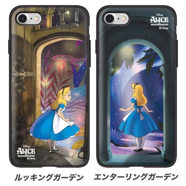 ディズニー iPhoneケース iPhoneXSMAX iPhoneXR iPhone8 iPhone7 iPhoneXS ふしぎの国のアリス カード収納 ミラー付き Galaxy 送料無料 公式 グッズ|itfriends|04