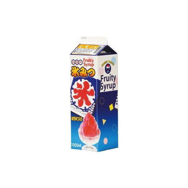 〔かき氷シロップ〕氷みつ 1リットル〔レモン〕(1本)