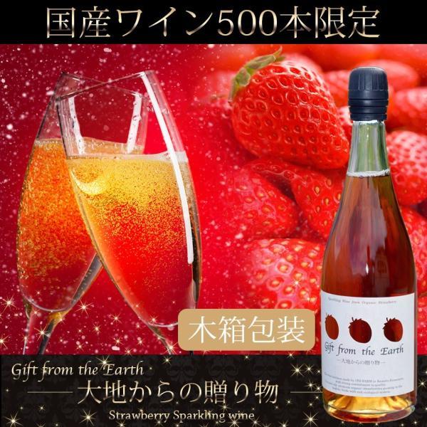 いちごスパークリングワイン 農薬不使用、肥料不使用で栽培したイチゴで作ったスパークリングワイン1本【ギフト木箱包装用】|itofarm