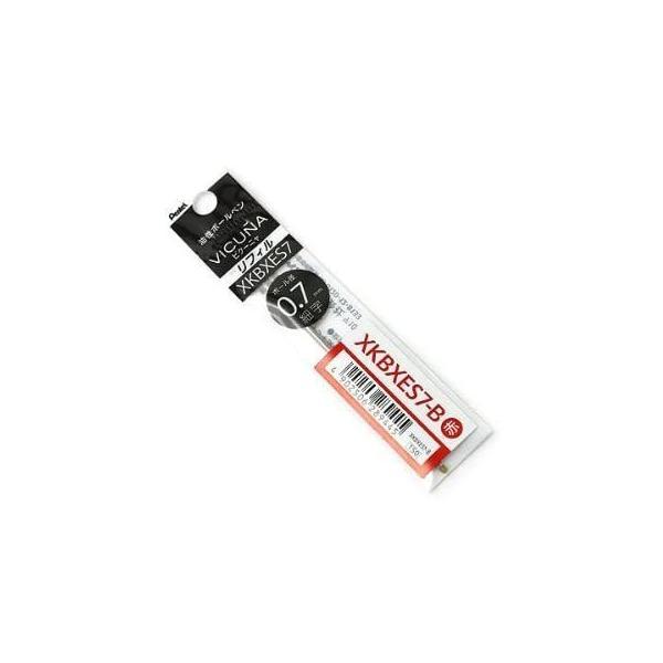 ぺんてる ビクーニャEX 多色・多機能ボールペン替芯 0.7mm 赤 XKBXES7-B