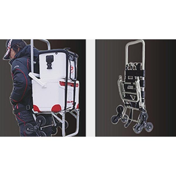 アルミバックパック トリプルキャリー プロックス 階段を上り下りするカート|itoturi|04