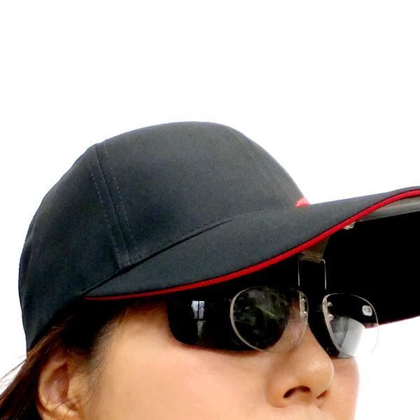 即席 老眼鏡 帽子専用 前掛クリップ式跳ね上げ式 ネオキャップシニア ME-7|itoturi