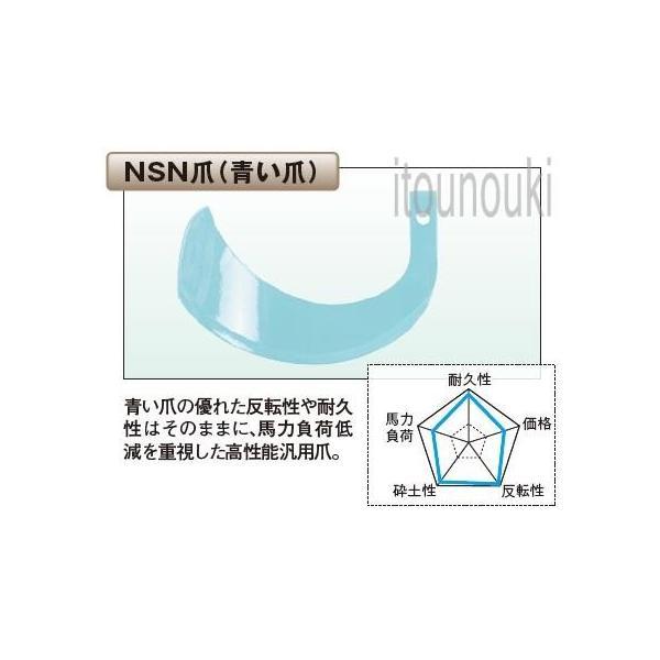 太陽 イセキロータリー用 NSN爪(新青爪) 34本セット [THA77025] 適合をお確かめ下さい