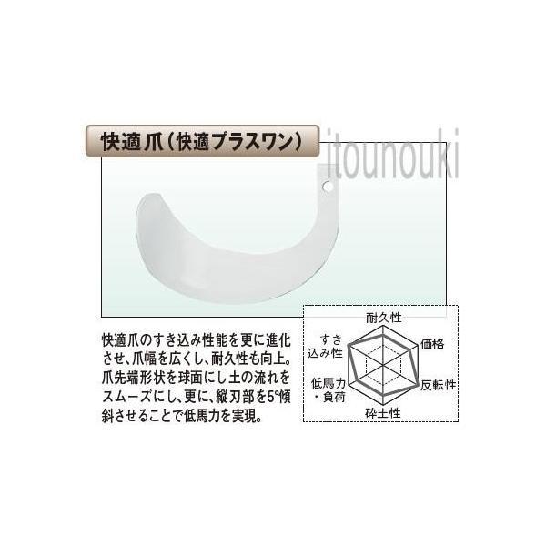 ヤンマー純正 サイドロータリー用 快適爪 40本セット [1TU821-04510] 適合をお確かめ下さい
