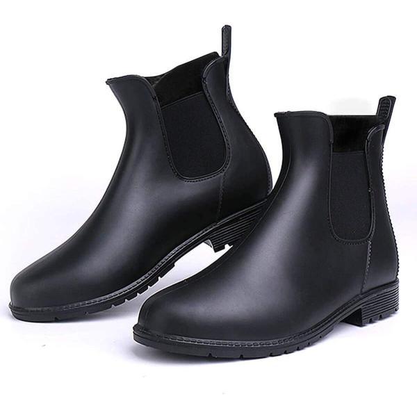 todaysunny レインシューズレディースレインブーツ軽量ヒール長靴カジュアルおしゃれ防水滑り止め雨靴梅雨対策快適ノ