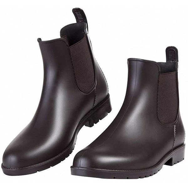 SHUJIN レインシューズレディースレインブーツメンズショート雨靴カジュアルシューズ梅雨対策晴雨兼用日常着滑り止め防水通勤