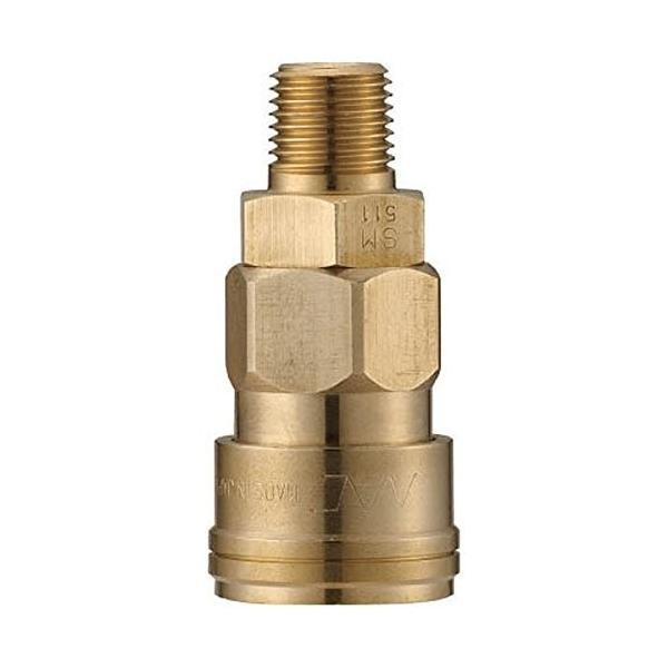 ナック クイックカップリング AL20型 真鍮製 メネジ取付用|itsudemokaden