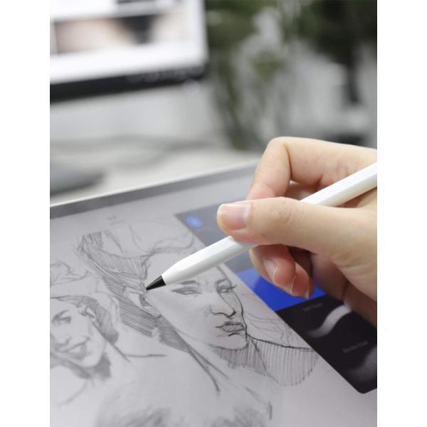 吉川優品 Apple Pencilチップ 2個入り Apple Pencilペン先 柔らかい 書き心地が良い第1世代 / 第2世代 Appl|itsudemokaden|10