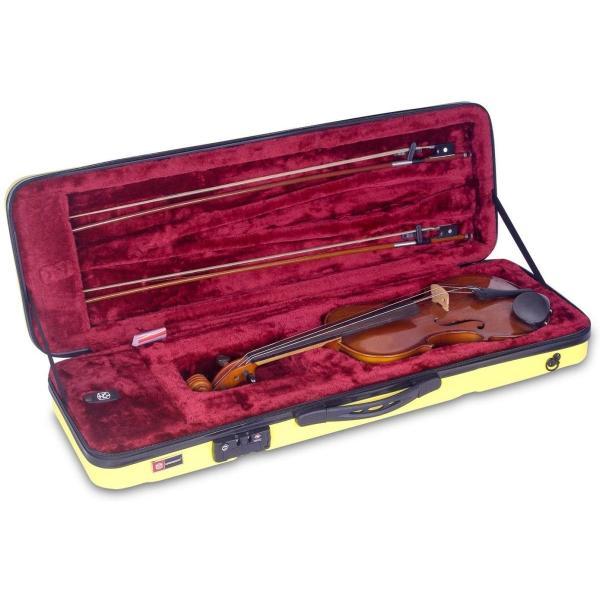 CROSSROCK CRA400VFYL ABS製4/4サイズ バイオリン用ハードケース イエロー|itsudemokaden|08
