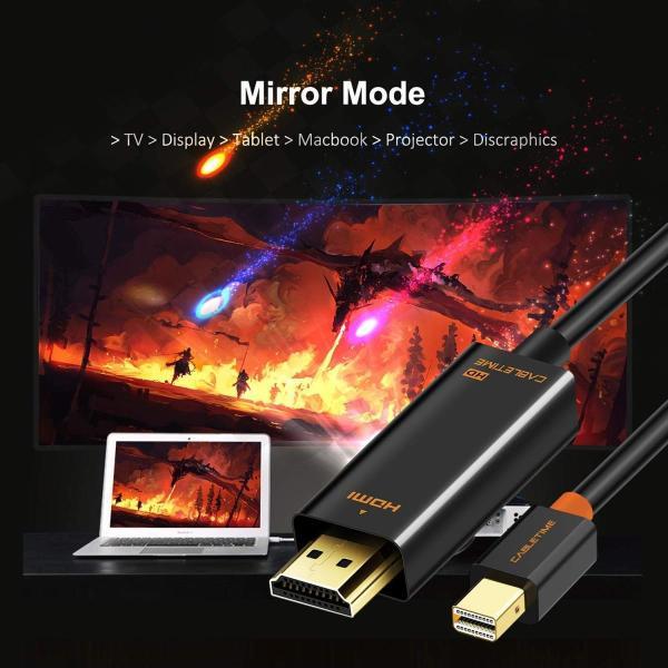 CABLETIME Mini Displayport to HDMI 変換ケーブル Thunderbolt Port 変換 HDMI 108|itsudemokaden|02