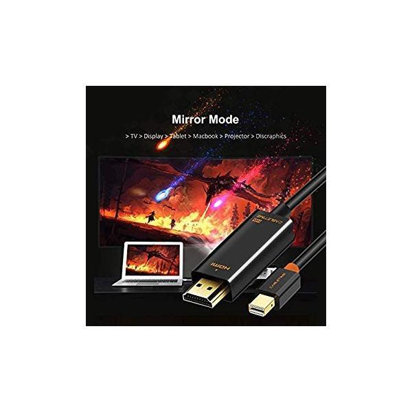 CABLETIME Mini Displayport to HDMI 変換ケーブル Thunderbolt Port 変換 HDMI 108|itsudemokaden|07