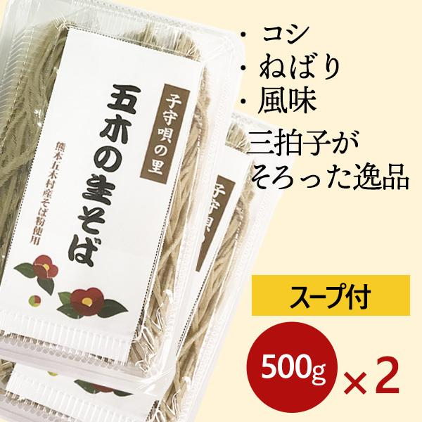 五木の生そば(スープ付)