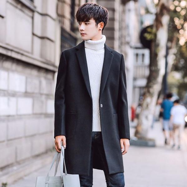チェスターコート 着やせ 韓国風 カジュアル メンズファッション かっこいい スタイルいい 大きいサイズ スプリングコート ...