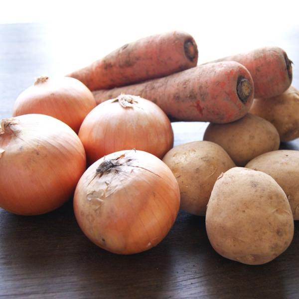 有機野菜セット 根菜バージョン じゃがいも・玉ねぎ・にんじん 各1キロずつ 計:約3kg *常温便 *送料込