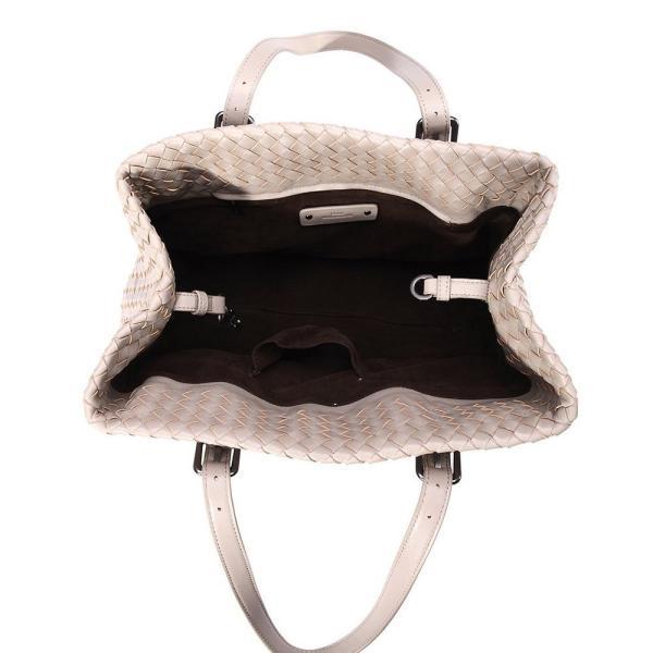 メッシュ編み 手編み 本革 羊革 レディーストートバッグ