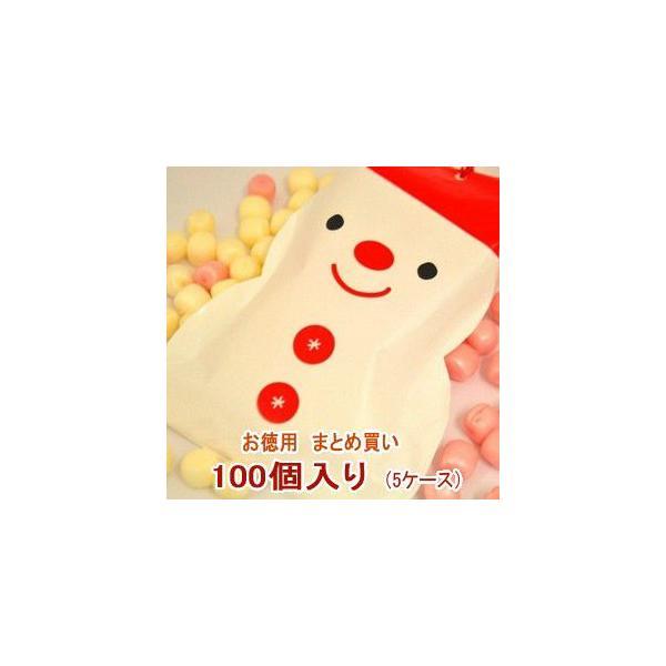クリスマス お菓子 業務用 まとめ買い スノーマン パック キャンディ 5ケース(100個)