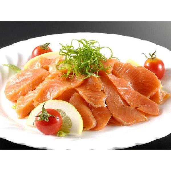 金賞スモークサーモン500g モンドセレクション 送料別|iwamatsu-salmon|06