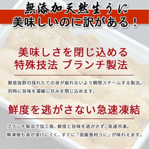 生ウニ  100g 3パック 無添加 刺身 天然 送料無料  ギフト あすつく|iwamatsu-salmon|04