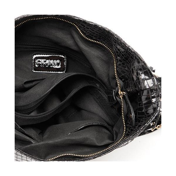 FIRANOコレクション「クロコ型押し2WAYバッグ」/A201145(ブラック)【「クロワッサン」掲載】 A201145 Black