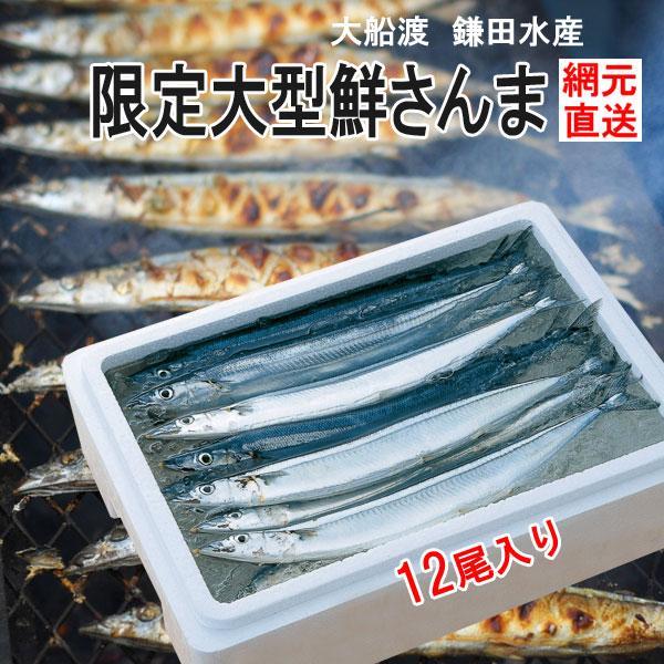 三陸 大船渡 生サンマを直送 鎌田水産 限定大型鮮さんま 12尾 K18