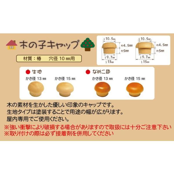 (メール便 可) DANDORIVIS ダンドリビス 木の子キャップ なめこ色 15mm ブリスターパック C-KCN15X-20 (20個入)
