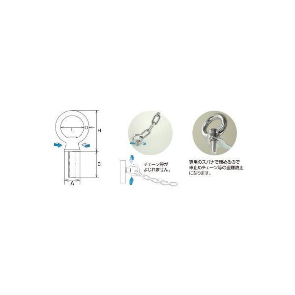 (メール便 可) 水本機械製作所 ステンレス 回転アイボルト ミリネジ M10 IBS-10M (1個) iwauchi-kanamonoten 02