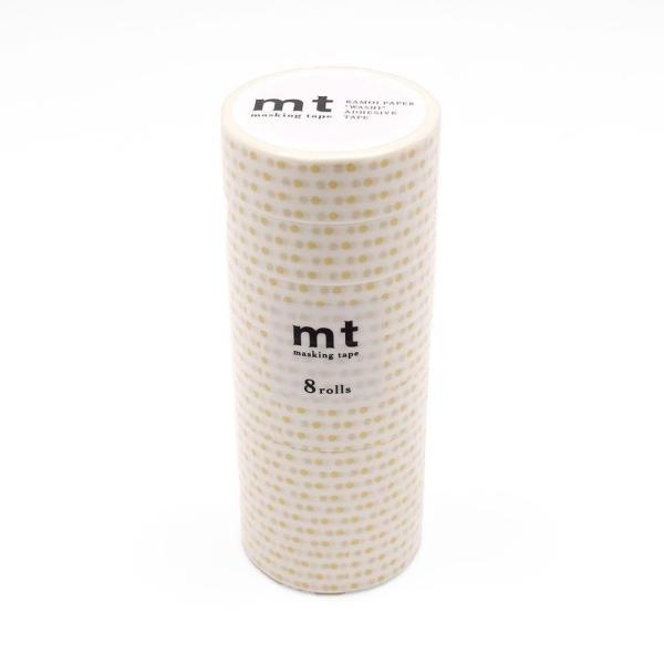 mt マスキングテープ 8P ドットS・金 MT08D151