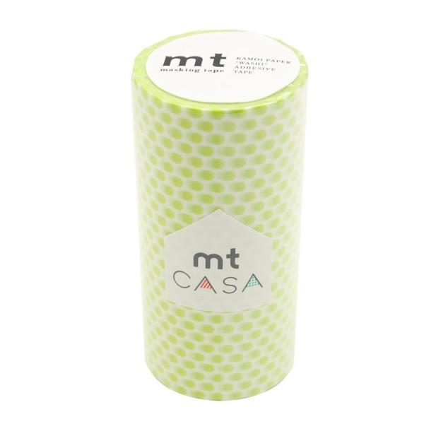 mt CASA マスキングテープ 100mm ドット・ライム MTCA1103
