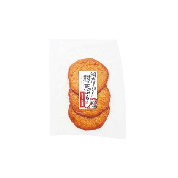 【代引き・同梱不可】伍魚福 おつまみ (S)鯛入り天ぷら 3枚×10入り 230180