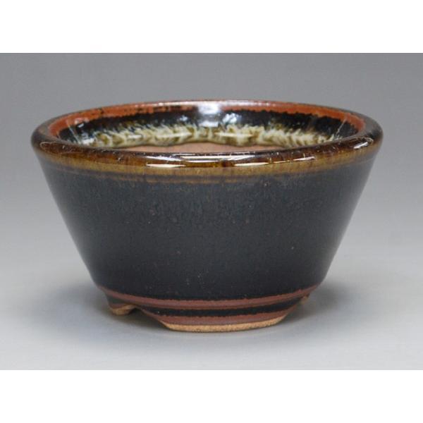 (伊予路園) (盆栽鉢)  小石原焼/切立丸小鉢 (海鼠釉) (ミニ鉢〜小鉢)|iyoji-en