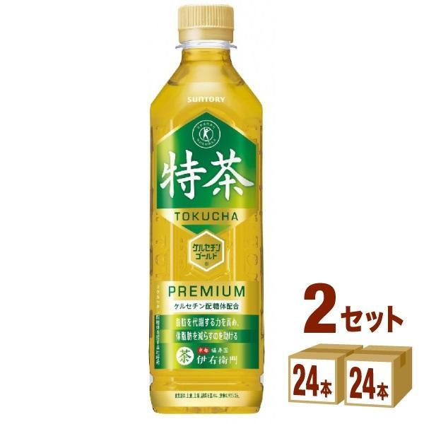 特茶 サントリー 伊右衛門 ペットボトル500ml  48本(24本×2ケース)|izmic-ec
