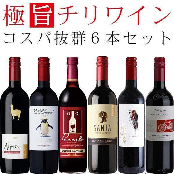 ワインセット 赤 チリワイン(カベルネソーヴィニヨン主体) 飲み比べ 6本セット wine set|izmic-ec