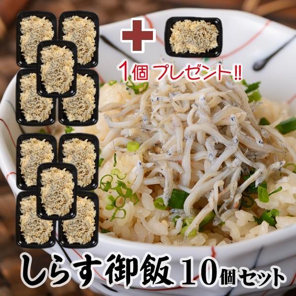 冷凍米飯 しらす御飯 10個セット+1個プレゼント 伊豆近海産しらす レンジでチンOK