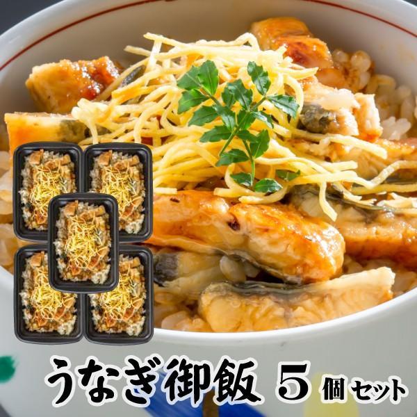うなぎ御飯5個 200g レンジでチンOK 冷凍米飯 土用丑の日