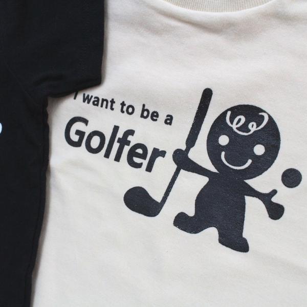 ロンパース ベビー服 ゴルフ柄 ベビーゴルファー 綿100% 70cm・80cm ブラック・オフホワイト izumigolf 03