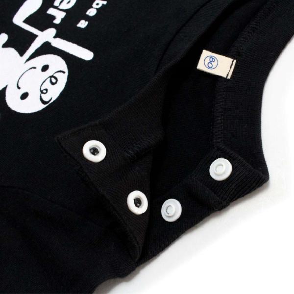 ロンパース ベビー服 ゴルフ柄 ベビーゴルファー 綿100% 70cm・80cm ブラック・オフホワイト izumigolf 04