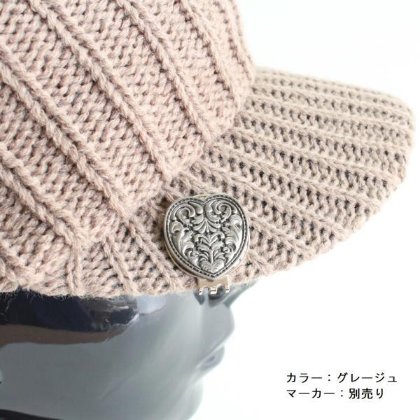 ニットキャスケット / ニットキャップ ゴルフ帽 ふんわりケーブル編 メンズ・レディース|izumigolf|05
