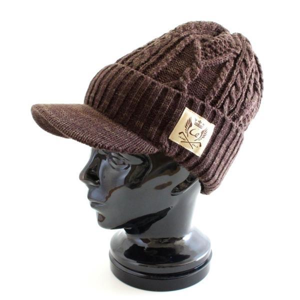 あったか裏ボア  ウールミックスニットキャスケット ケーブル編 ゴルフ帽 メンズ・レディース|izumigolf|02