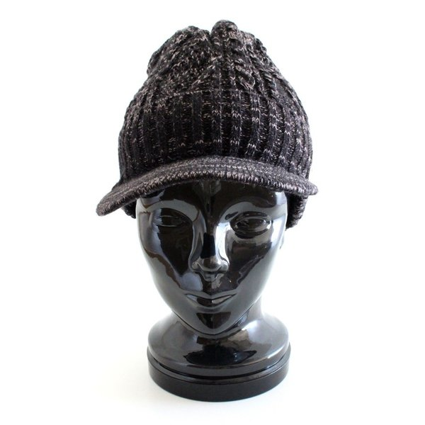 あったか裏ボア  ウールミックスニットキャスケット ケーブル編 ゴルフ帽 メンズ・レディース|izumigolf|03