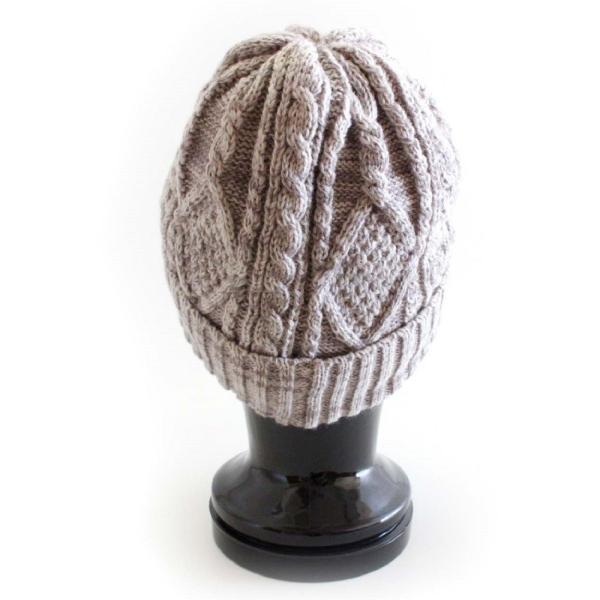 あったか裏ボア  ウールミックスニットキャスケット ケーブル編 ゴルフ帽 メンズ・レディース|izumigolf|04