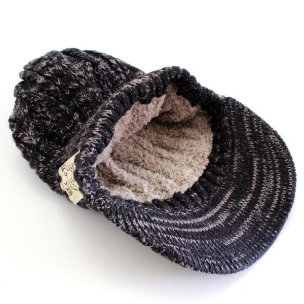 あったか裏ボア  ウールミックスニットキャスケット ケーブル編 ゴルフ帽 メンズ・レディース|izumigolf|05