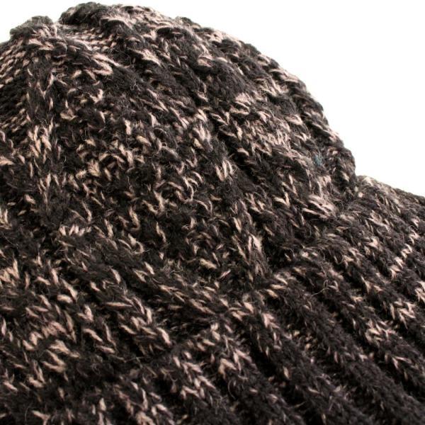 あったか裏ボア  ウールミックスニットキャスケット ケーブル編 ゴルフ帽 メンズ・レディース|izumigolf|08