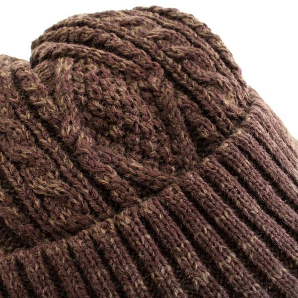 あったか裏ボア  ウールミックスニットキャスケット ケーブル編 ゴルフ帽 メンズ・レディース|izumigolf|09