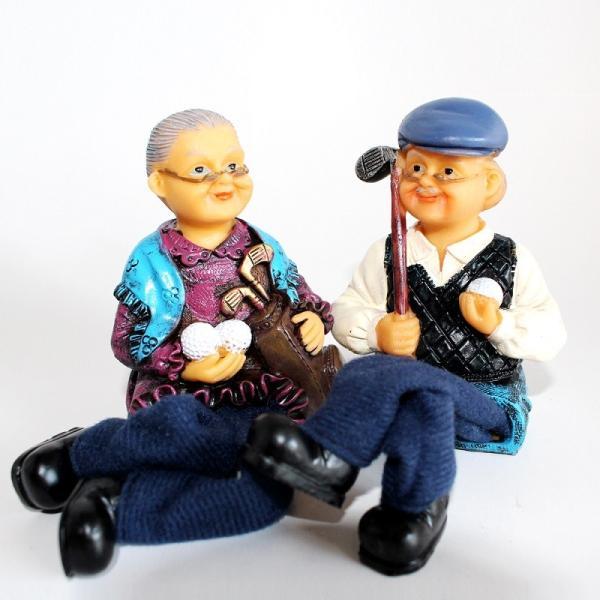 おじいちゃん&おばあちゃん人形 ゴルフ|izumigolf