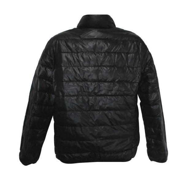 メンズ 軽量 ダウンジャケット ポータブル ダウン80%・フェザー20% ブラック|izumigolf|04