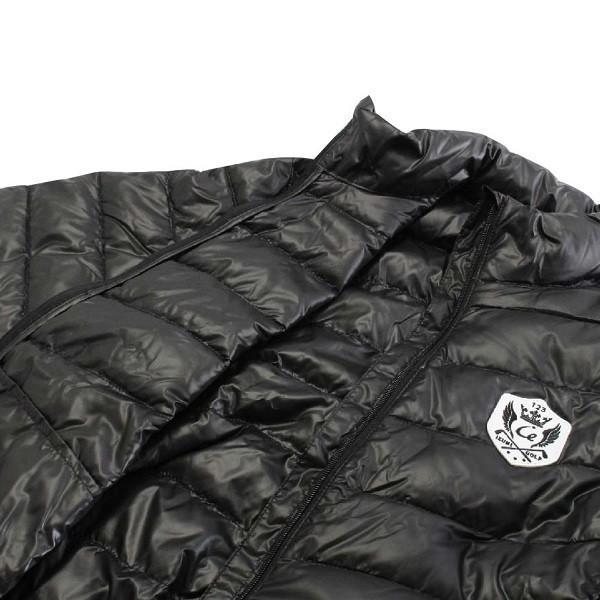 メンズ 軽量 ダウンジャケット ポータブル ダウン80%・フェザー20% ブラック|izumigolf|05