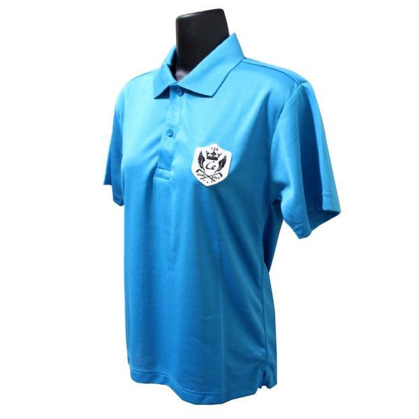 ライトドライポロシャツ 半袖 吸汗&速乾  ゴルフエンブレム ターコイズブルー サイズS|izumigolf|02