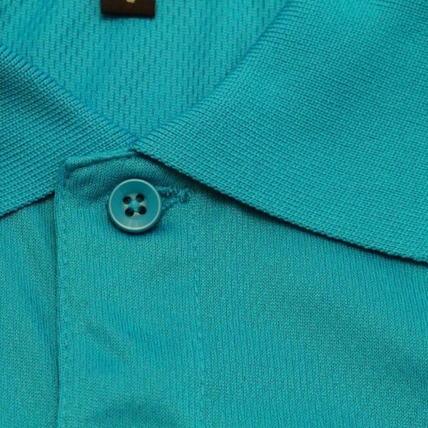 ライトドライポロシャツ 半袖 吸汗&速乾  ゴルフエンブレム ターコイズブルー サイズS|izumigolf|04