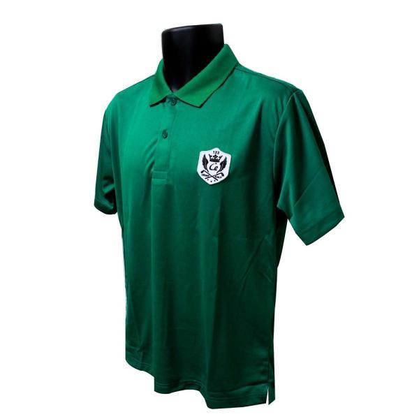 ライトドライポロシャツ 半袖 吸汗&速乾  ゴルフエンブレム グリーン サイズM・L ゴルフ ラウンド|izumigolf|02